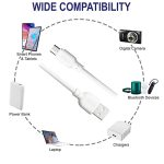 ERD UC-21 Unbreakeable 2.4 Amp Fast Charging Micro USB Data & Charging Cable, 1 Meter (White)