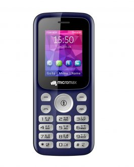 Micromax X378 (Blue, Power Torch Blink on Call, BT Calling Functionality, 800mAh)