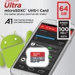 SanDisk 64GB Class 10 microSDXC Memory Card