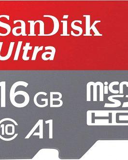 Sandisk U1 A1 98Mbps 16GB Ultra MicroSDHC (MicroSD) Memory Card
