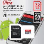 SanDisk 32GB Class 10 Micro SDHC Memory Card