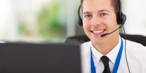 22538009 - smiling male customer support operator with headset